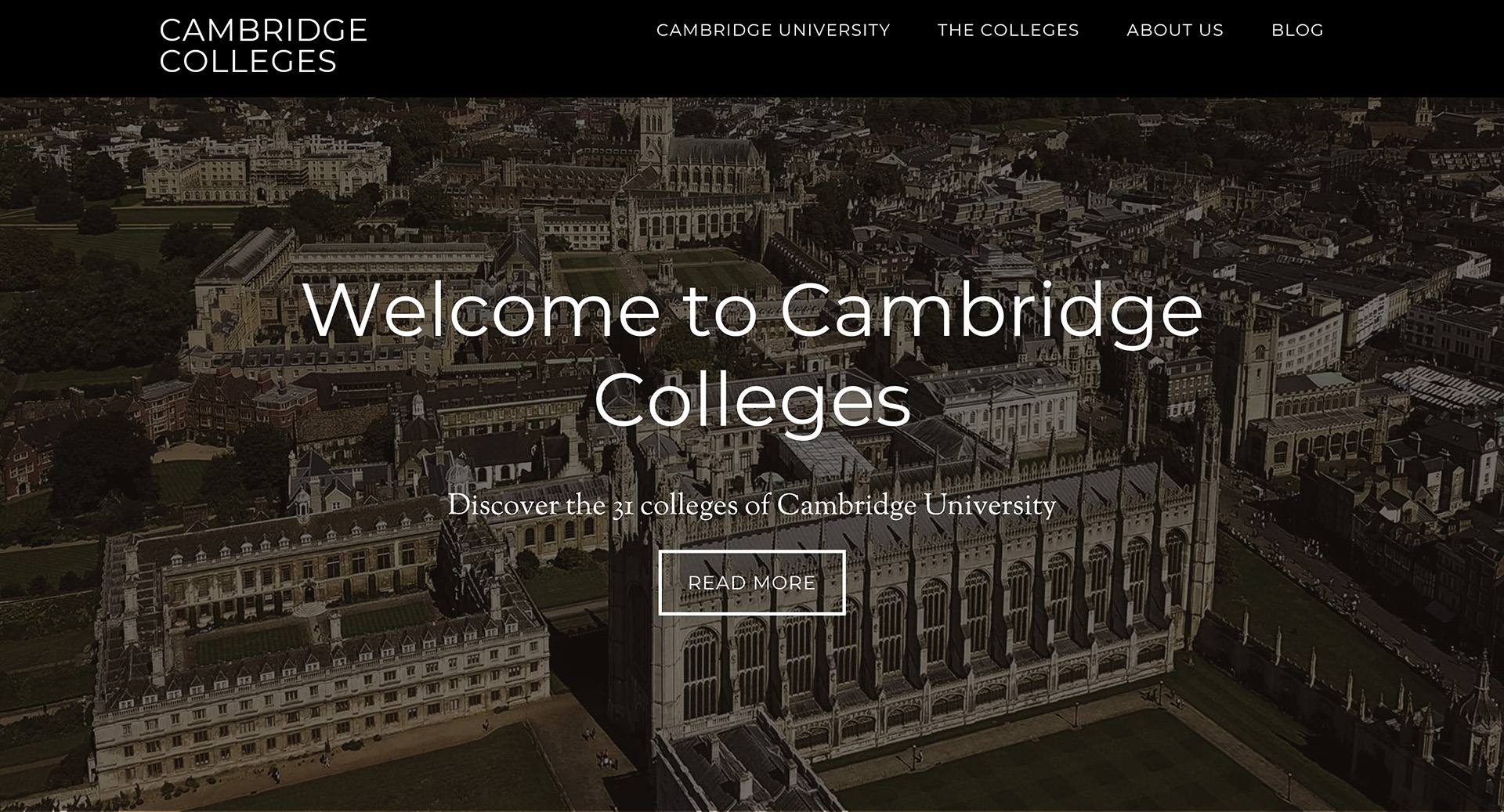 Cambridge Colleges website thumbnail