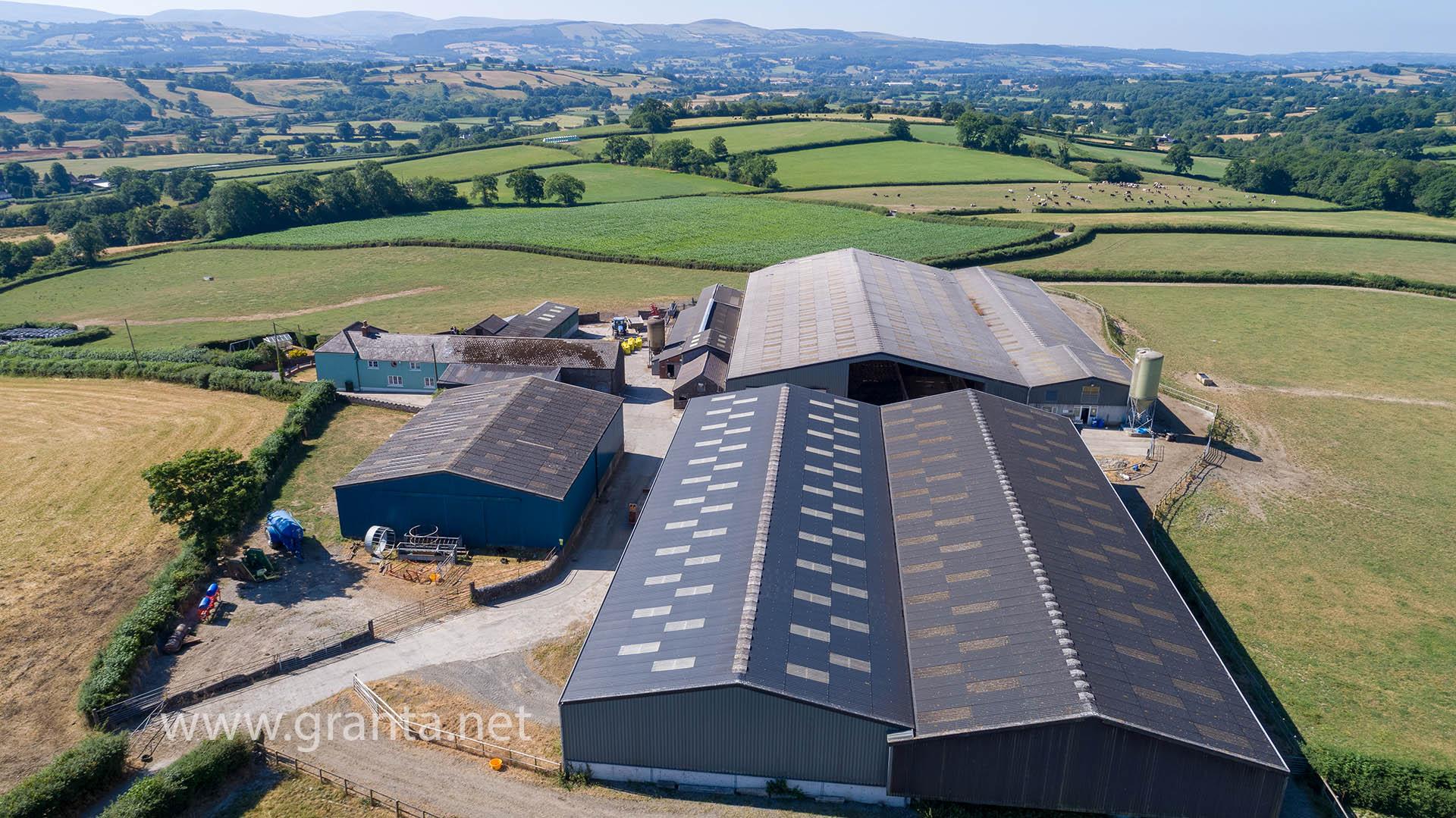 Aerial photo of a farm