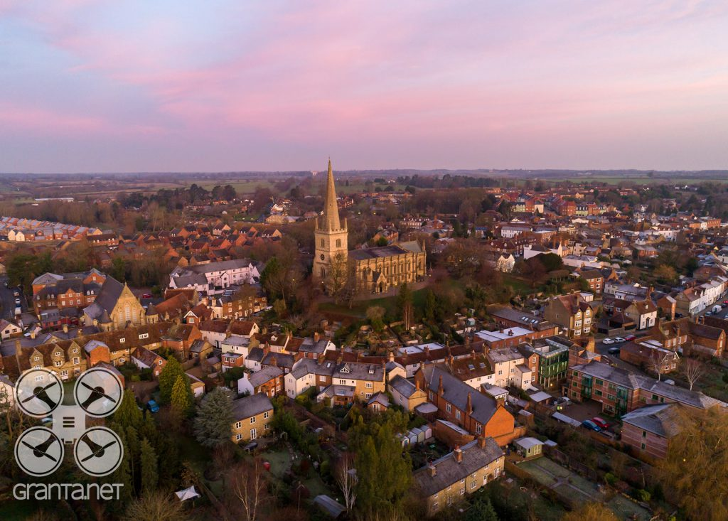 Aerial photograph of Buckingham old town