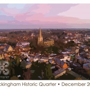 stylised image of Buckingham at dawn