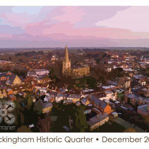 stylised image of Buckingham at dawn