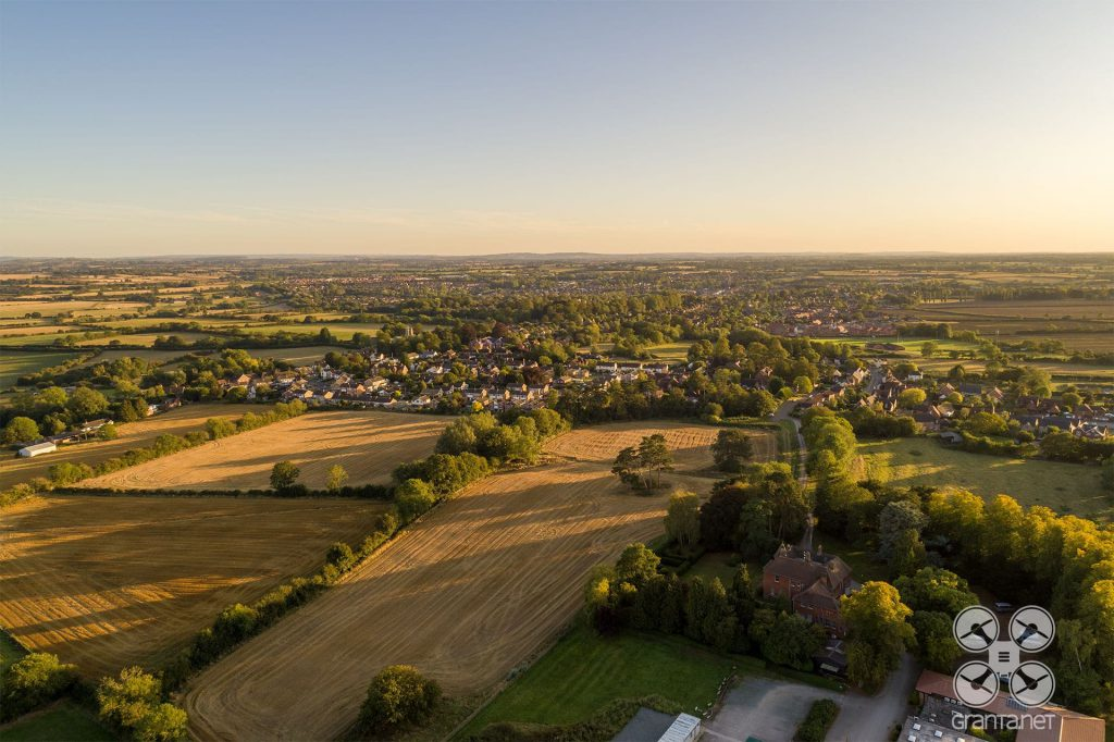 Drone photo of Maids Moreton, near Buckingham